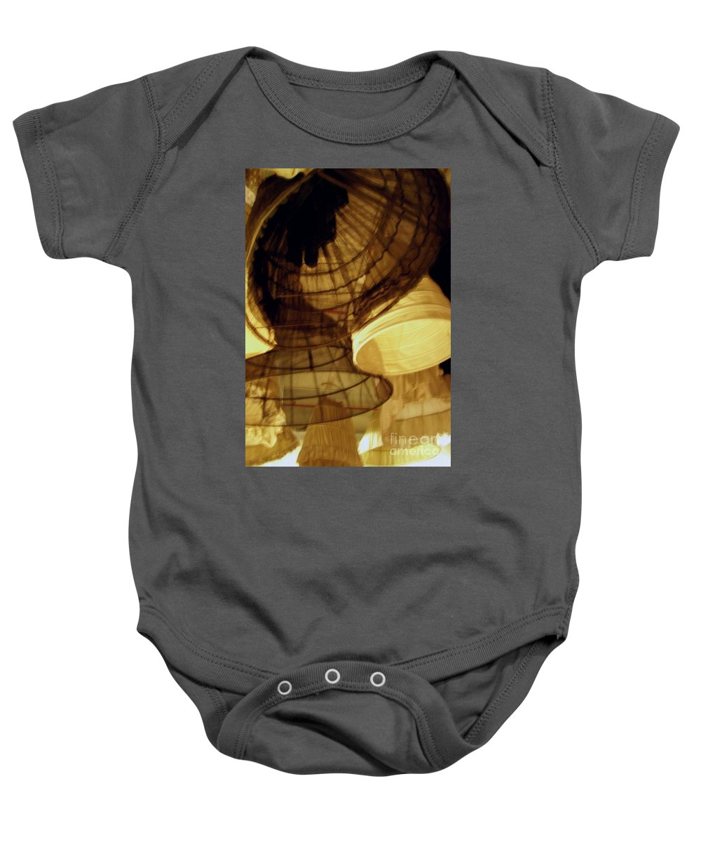 Theatre Baby Onesie featuring the photograph Crinolines by Ze DaLuz