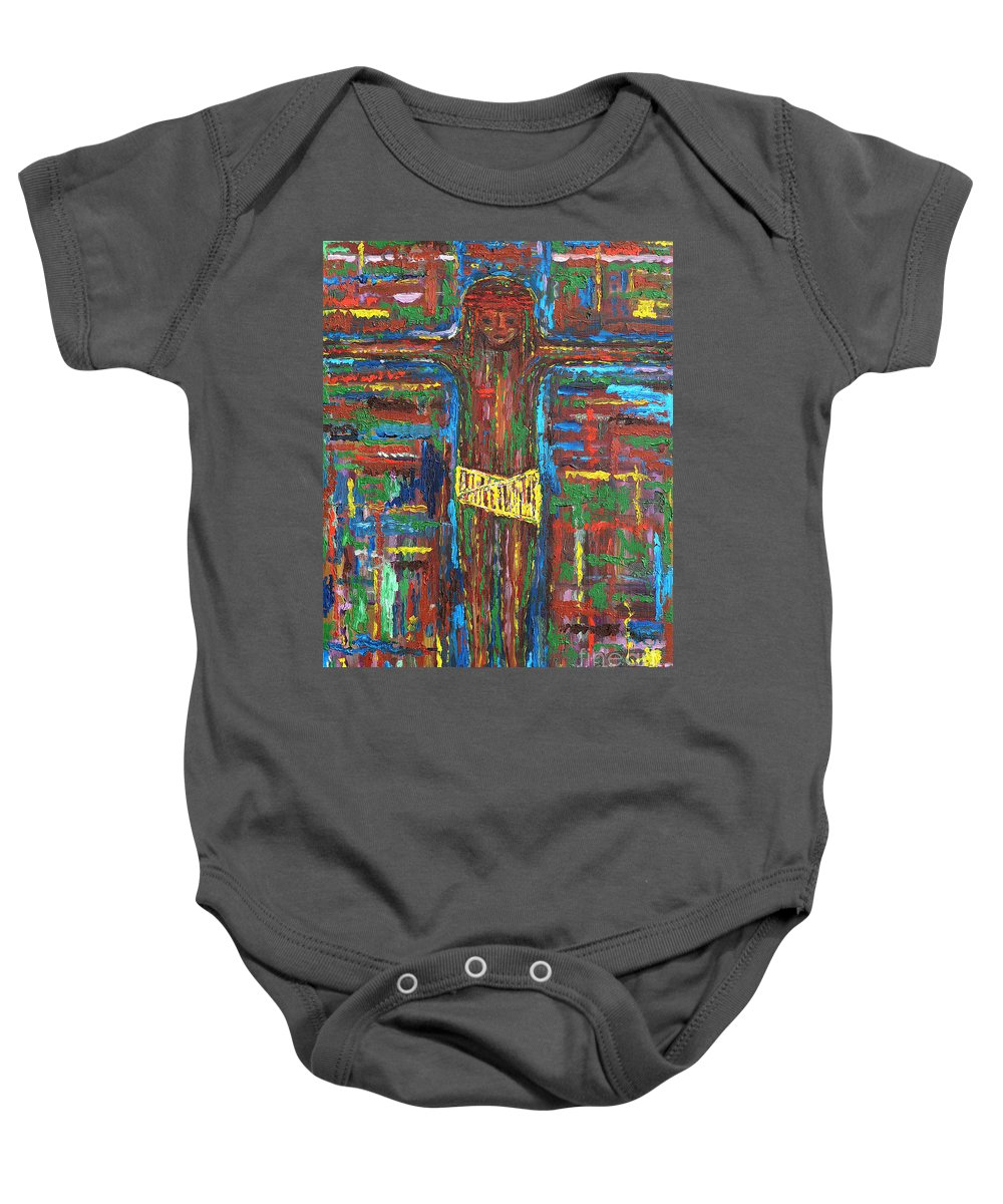 Easter Baby Onesie featuring the painting Cross 3 by Patrick J Murphy