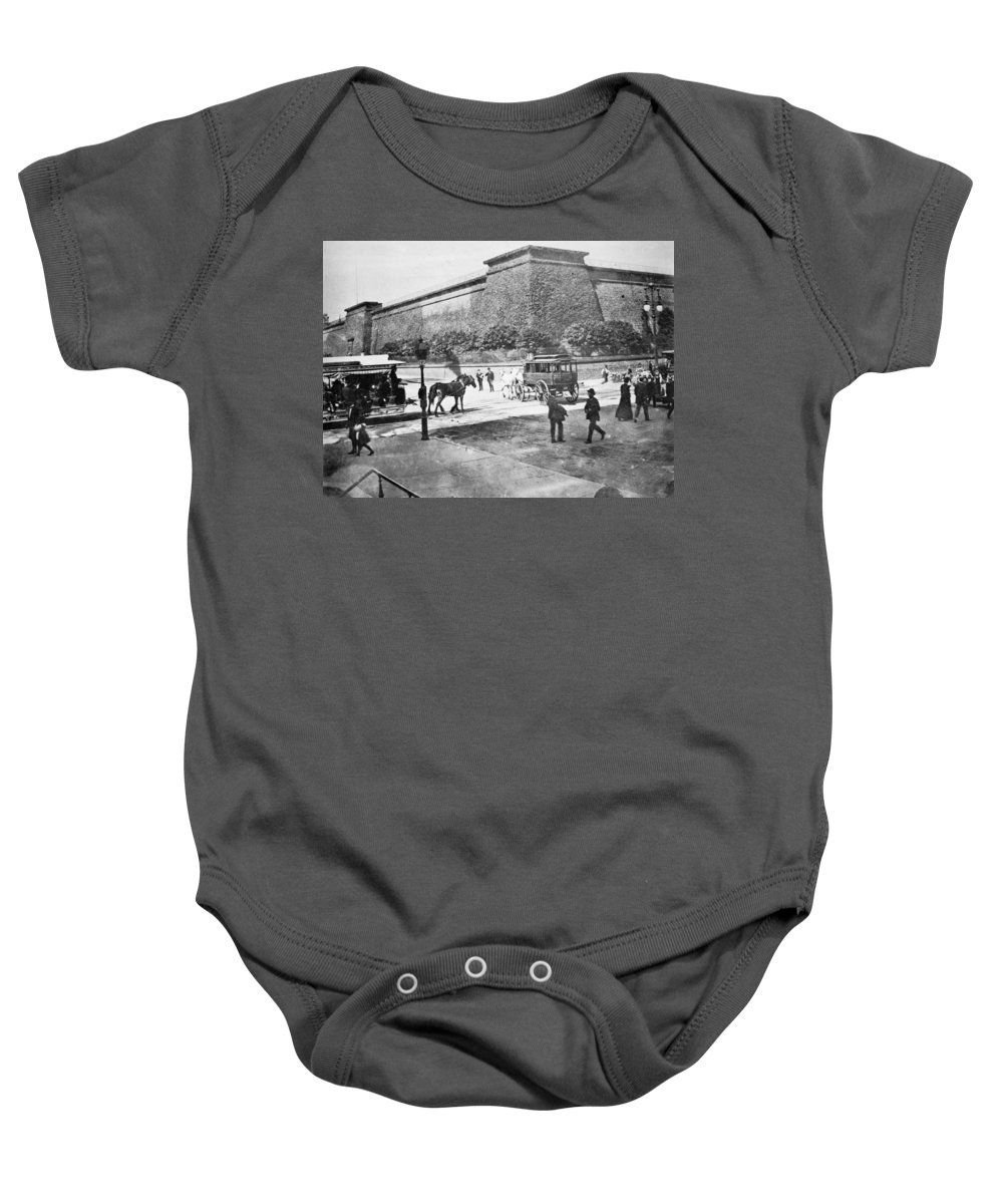 1898 Baby Onesie featuring the photograph Croton Reservoir, 1898 by Granger
