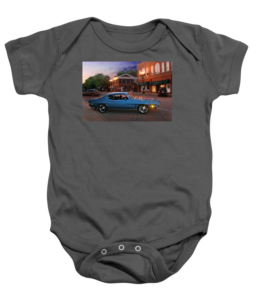 Landcape Baby Onesie featuring the photograph Cruise Night In Liberty by Steve Karol