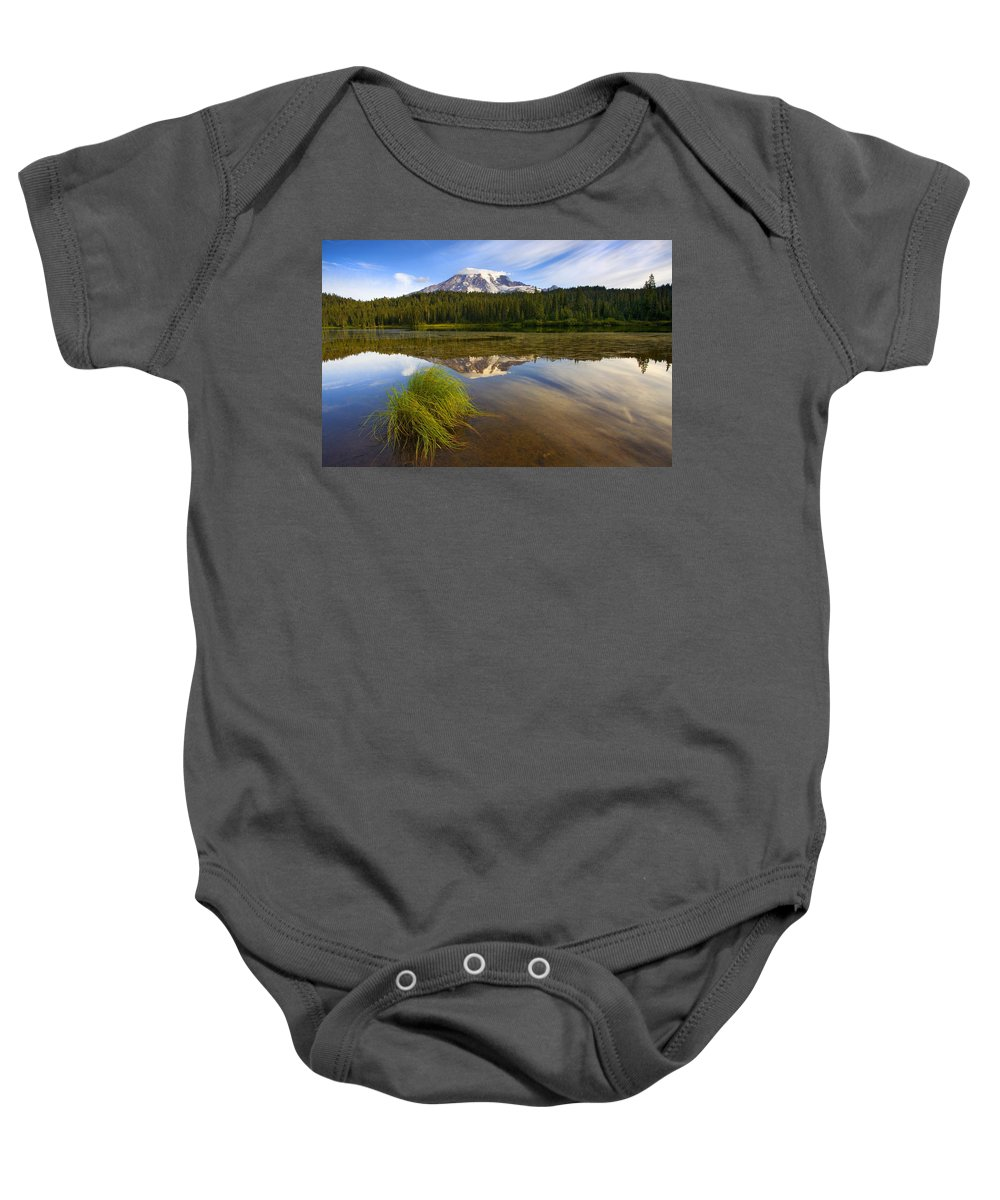 Lake Baby Onesie featuring the photograph Crystal Clear by Mike Dawson