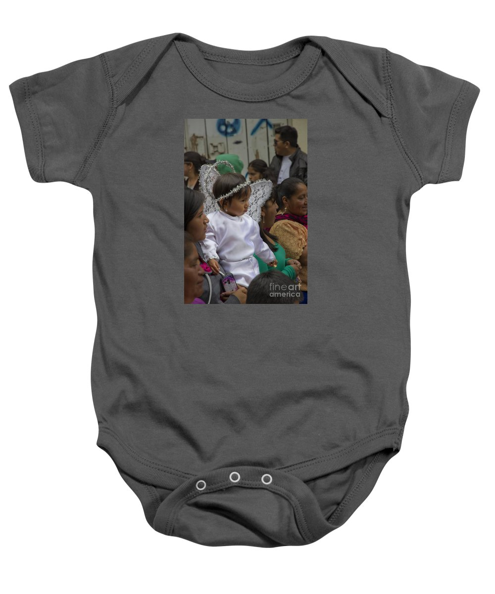 Girl Baby Onesie featuring the photograph Cuenca Kids 682 by Al Bourassa