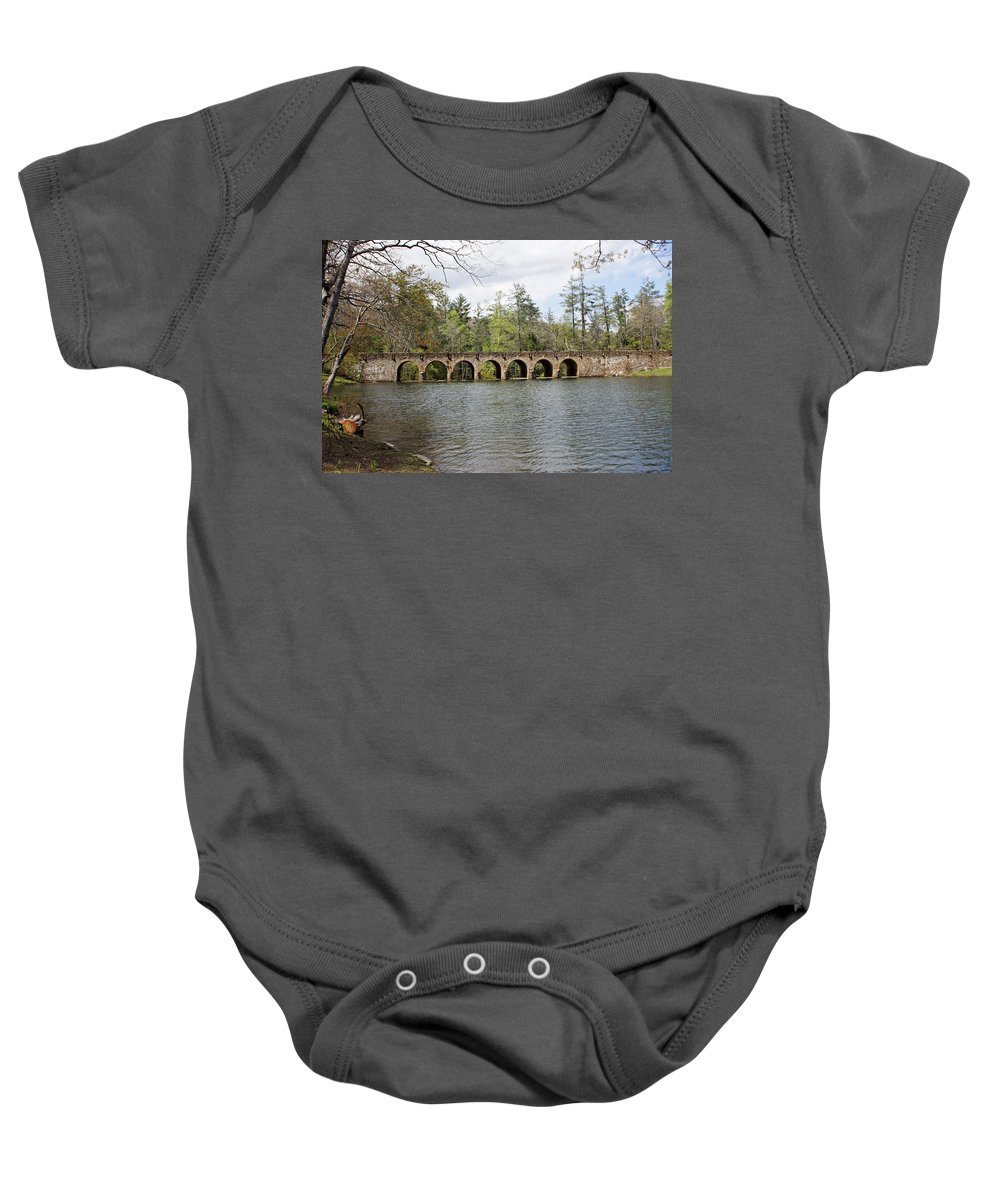 Cumberland Mountain Baby Onesie featuring the photograph Cumberland Mountain State Park by Sandy Keeton