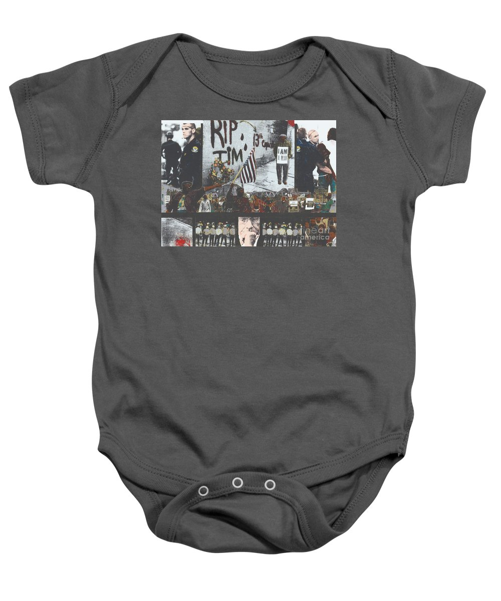 Cincinnati Baby Onesie featuring the painting Curfewed by Harris Wiltsher