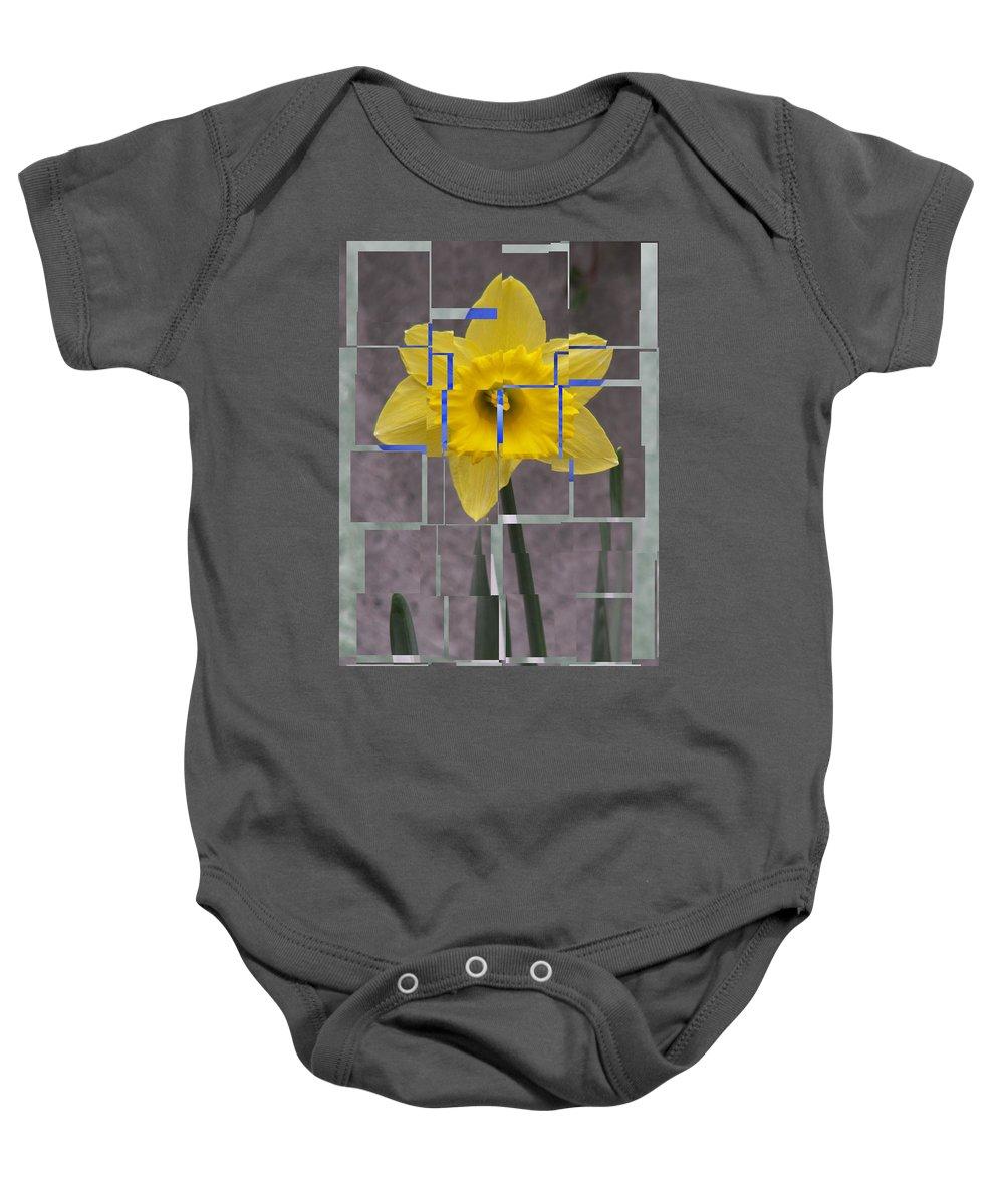 Flower Baby Onesie featuring the digital art Daffodil 1 by Tim Allen
