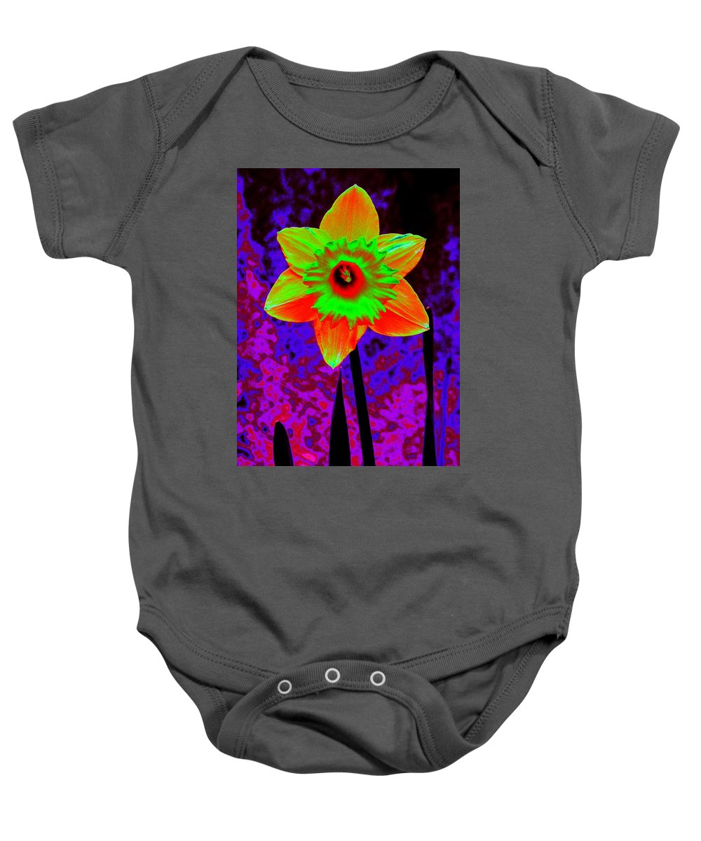 Daffodil Baby Onesie featuring the photograph Daffodil 2 by Tim Allen