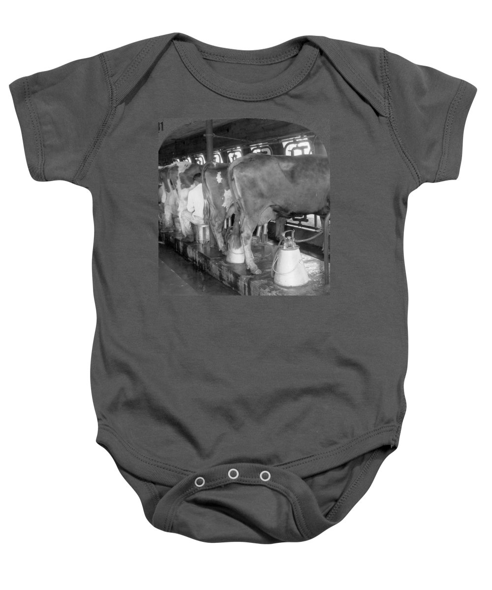 1920 Baby Onesie featuring the photograph Dairy Farm, C1920 by Granger