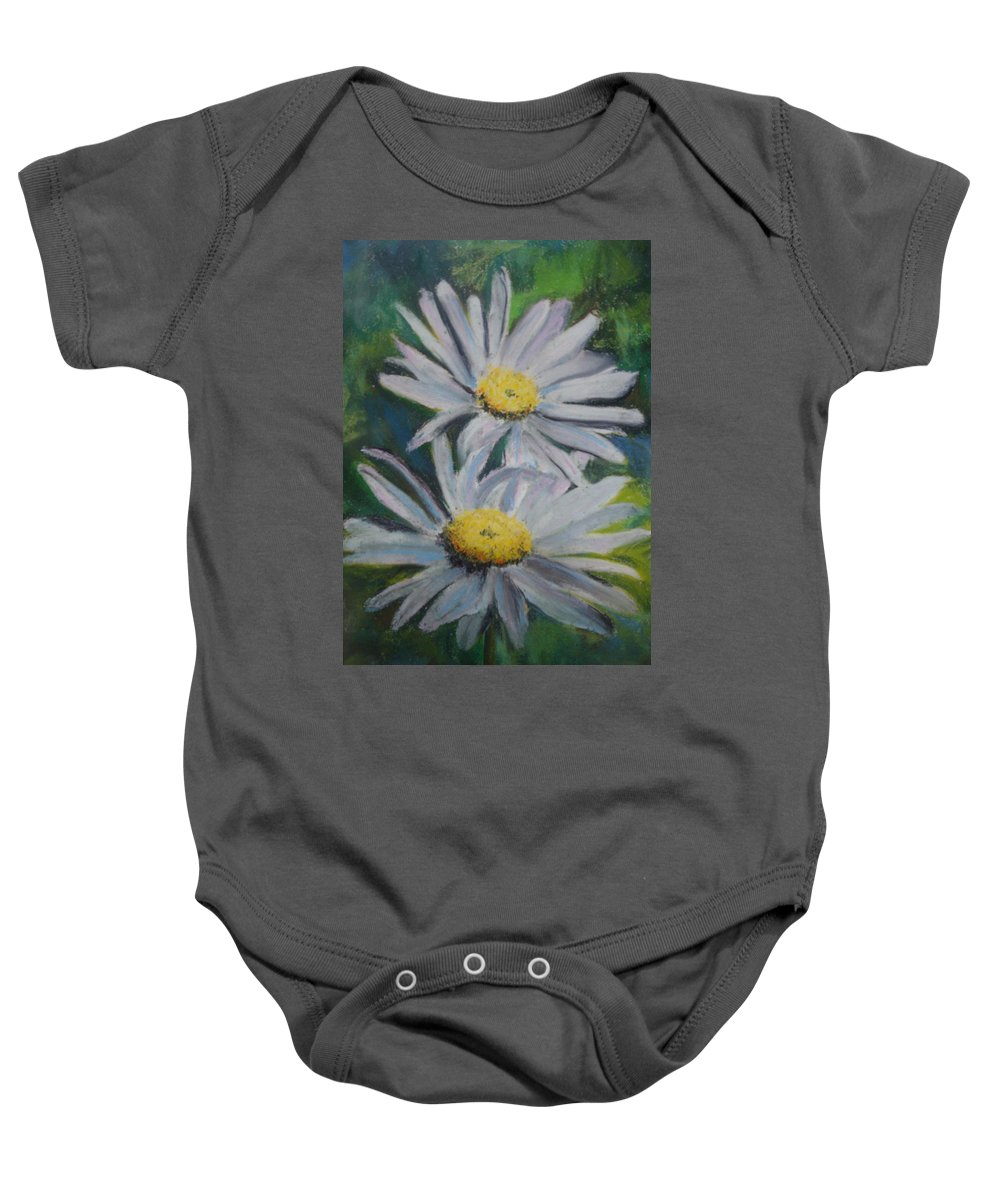 Daisies Baby Onesie featuring the painting Daisies by Melinda Etzold