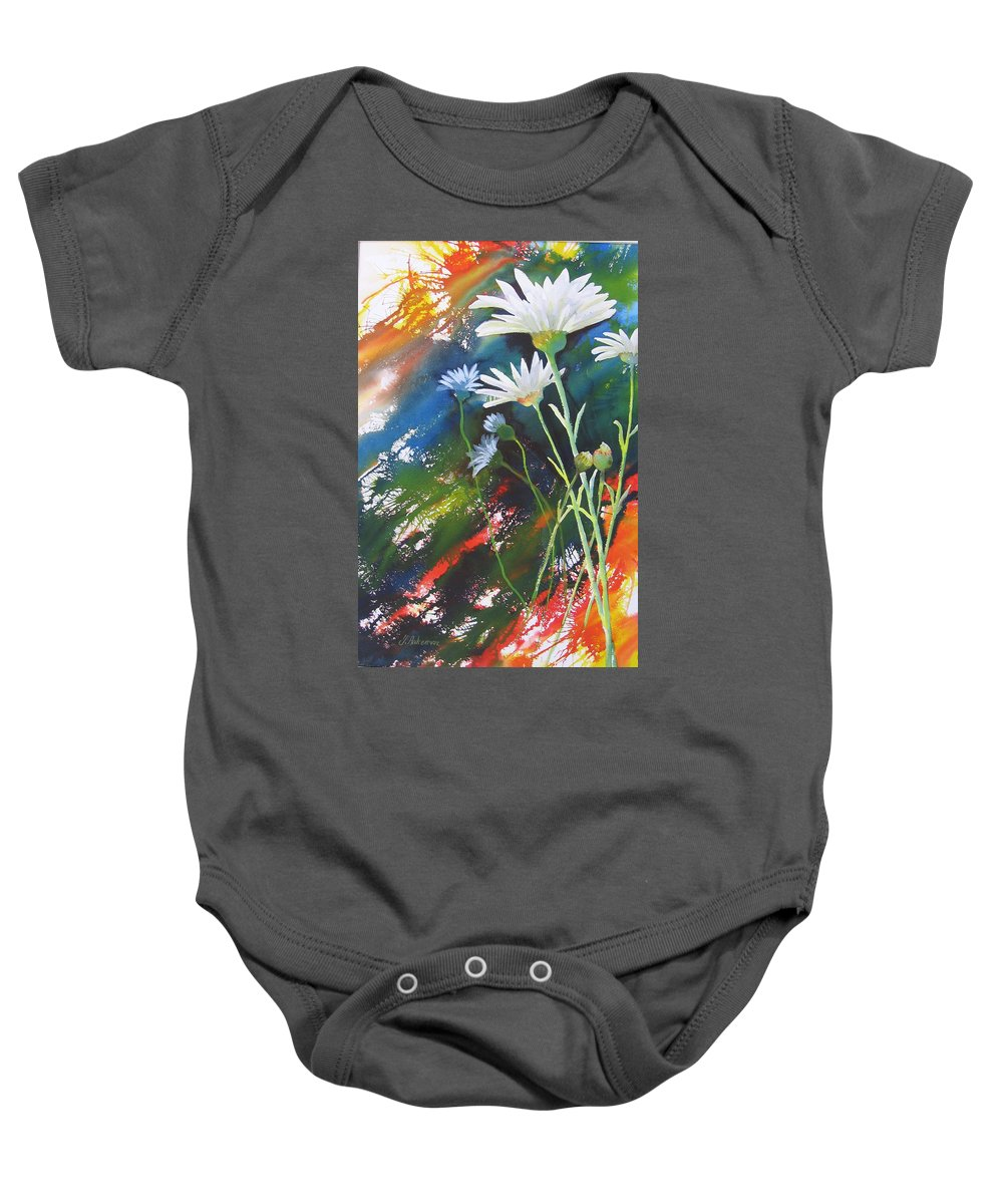 Flowers Baby Onesie featuring the painting Daisy by Yvonne Ankerman