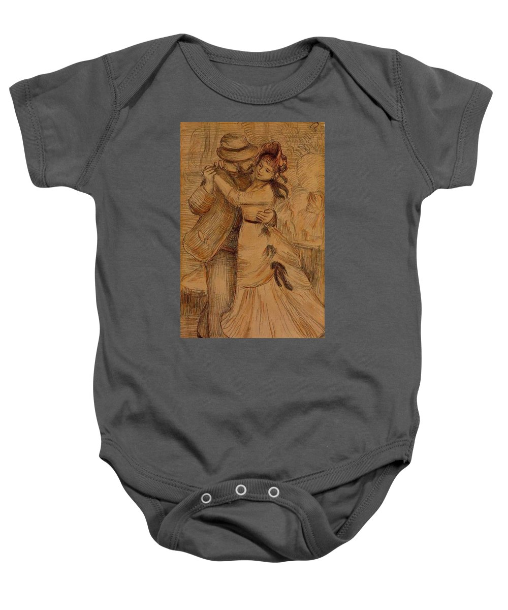 Dance Baby Onesie featuring the painting Dance In The Country 1883 by Renoir PierreAuguste