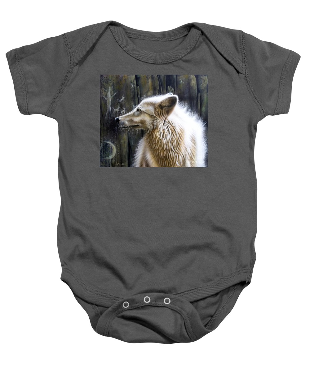 Acrylics Baby Onesie featuring the painting Dance -the Moon by Sandi Baker