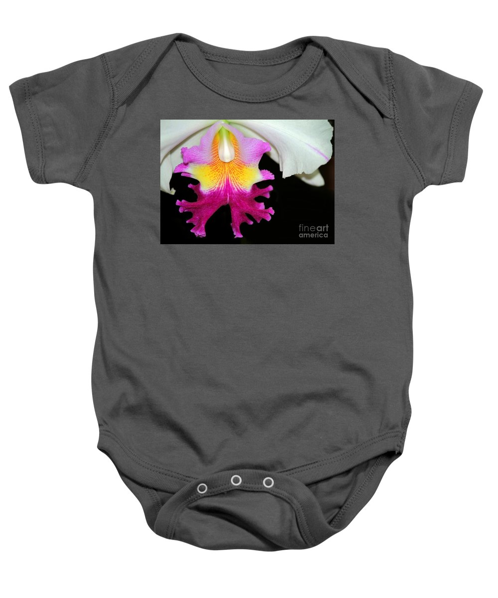 Orchid Baby Onesie featuring the photograph Dancing Orchid by Sabrina L Ryan