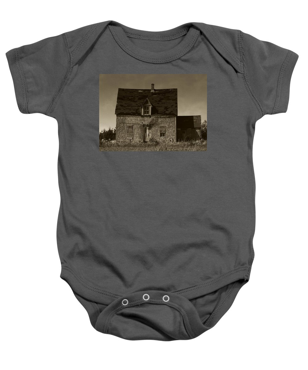 Old House Baby Onesie featuring the photograph Dark Day On Lonely Street by RC DeWinter