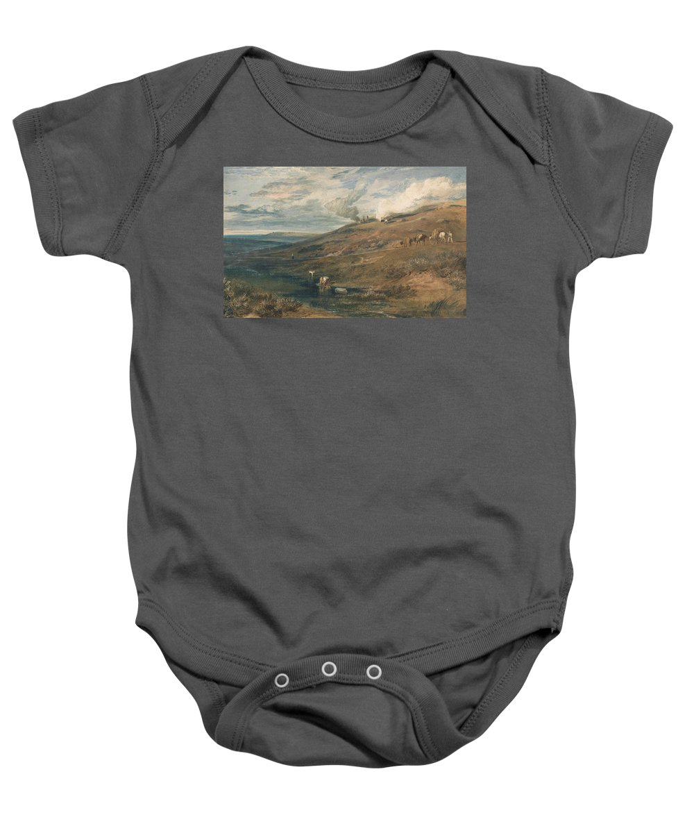 19th Century Art Baby Onesie featuring the painting Dartmoor The Source Of The Tamar And The Torridge by Joseph Mallord William Turner
