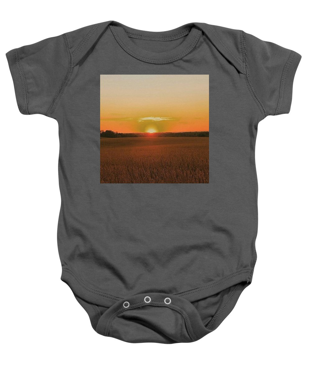 Sunset Baby Onesie featuring the photograph Day Is Done by Paul Kercher