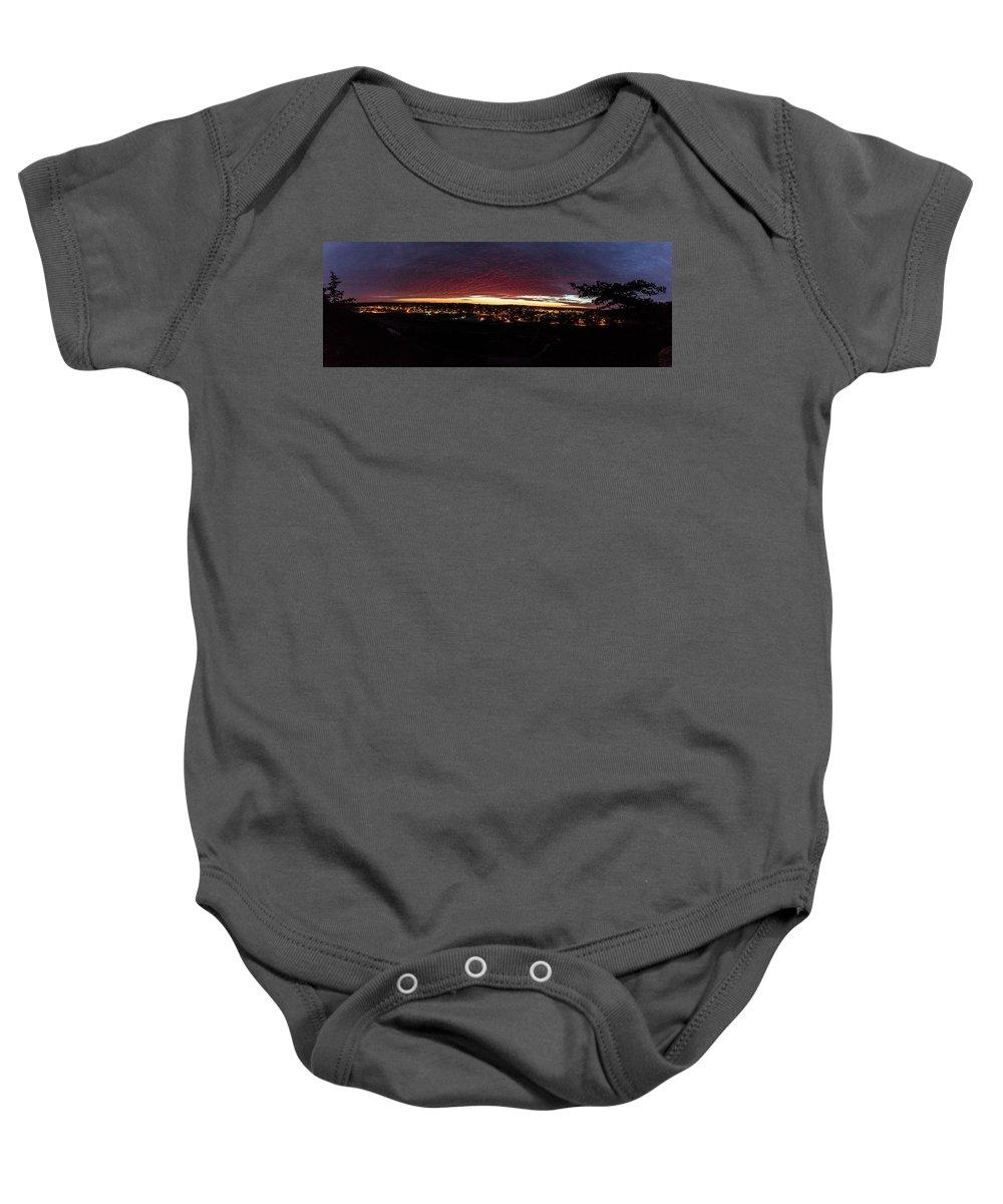 Decorah Baby Onesie featuring the photograph Decorah Iowa by Paul Herold