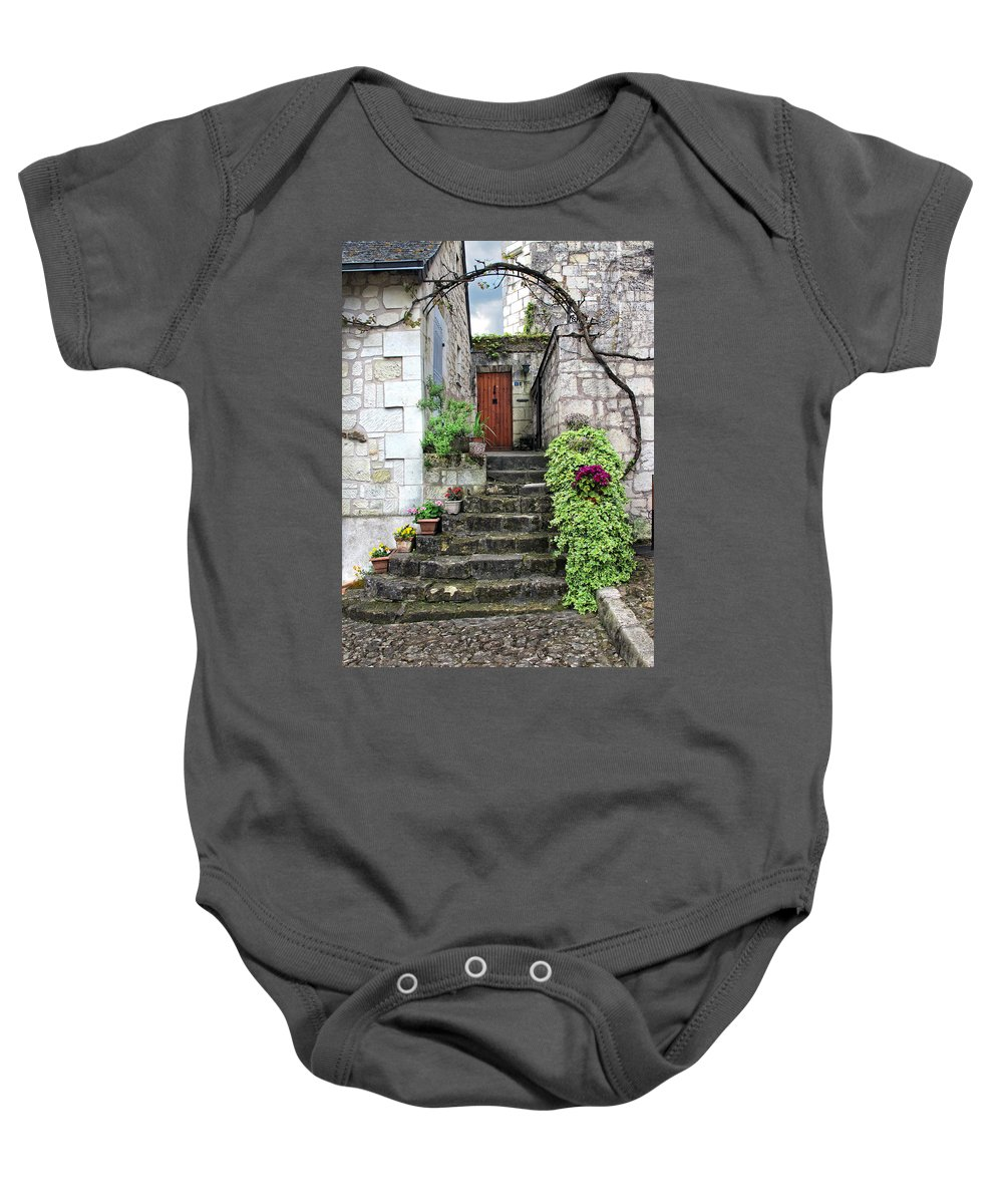 France Baby Onesie featuring the photograph Decorative Stairway by Dave Mills