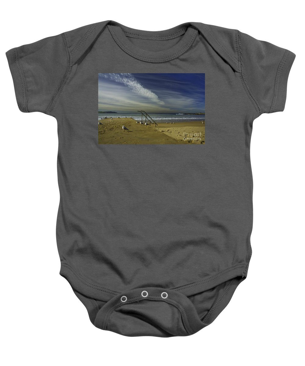 Beach Baby Onesie featuring the photograph Dee Why Beach Sydney by Sheila Smart Fine Art Photography