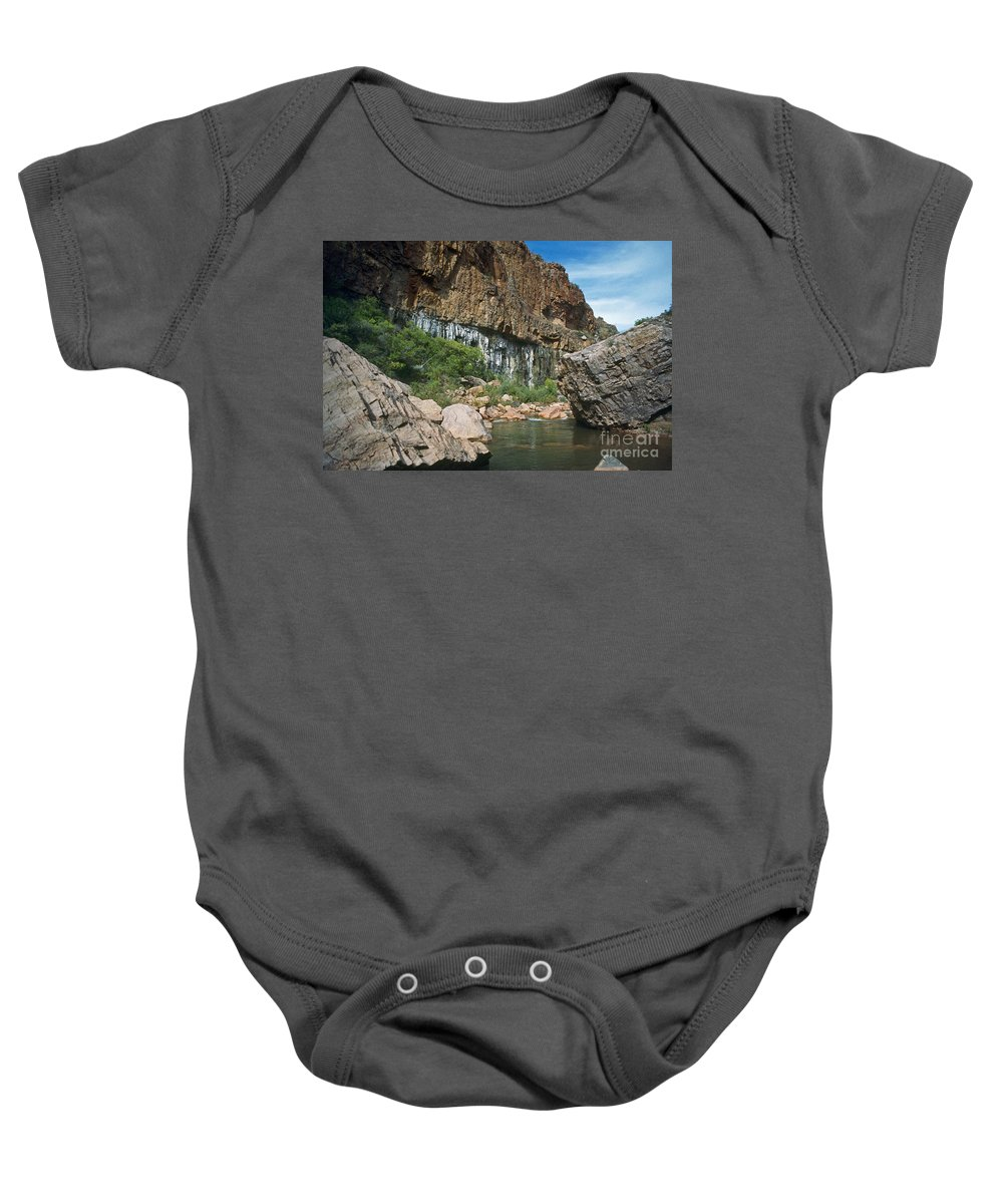 Landscape Baby Onesie featuring the photograph Deep Water by Kathy McClure