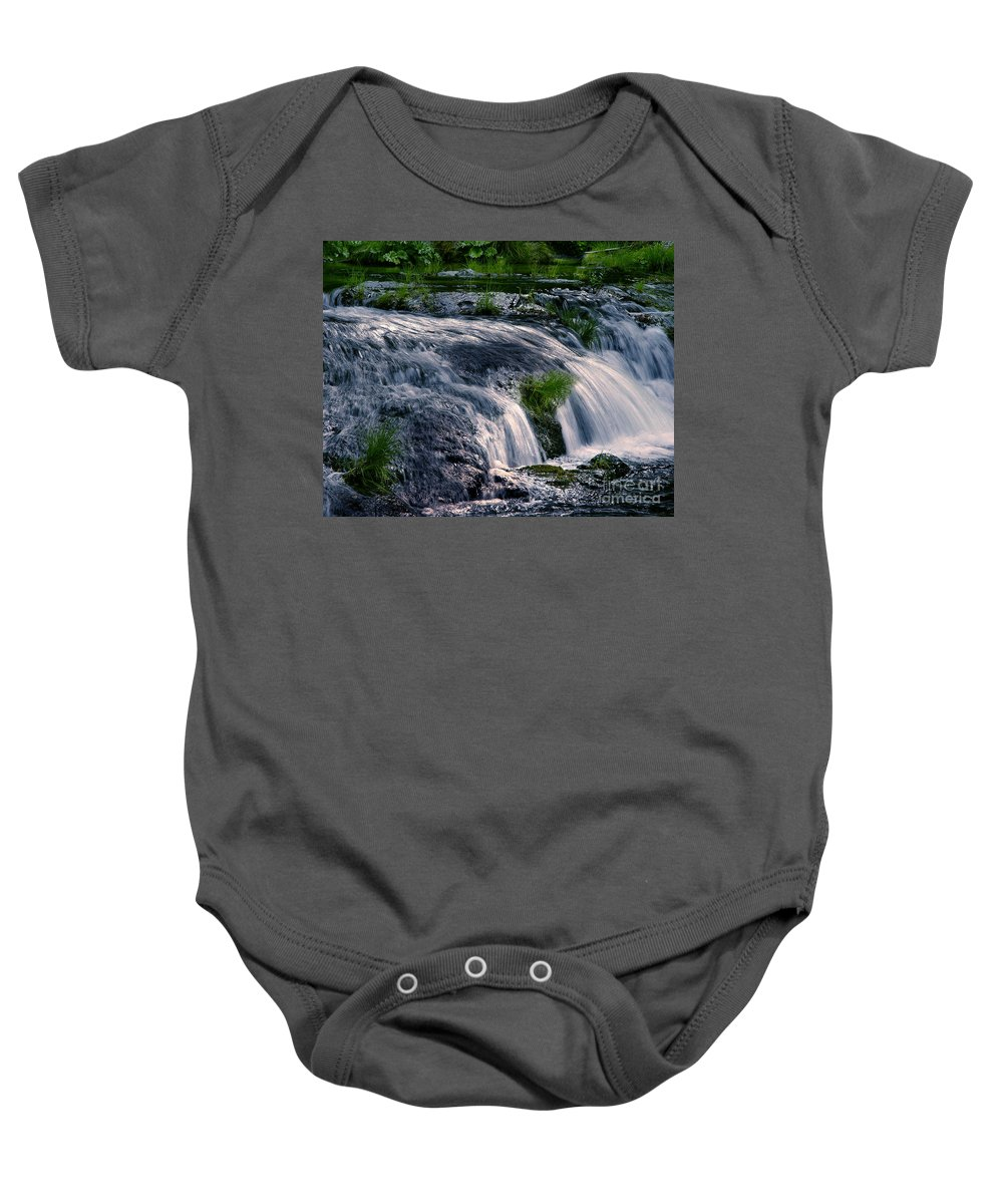 Creek Baby Onesie featuring the photograph Deer Creek 01 by Peter Piatt