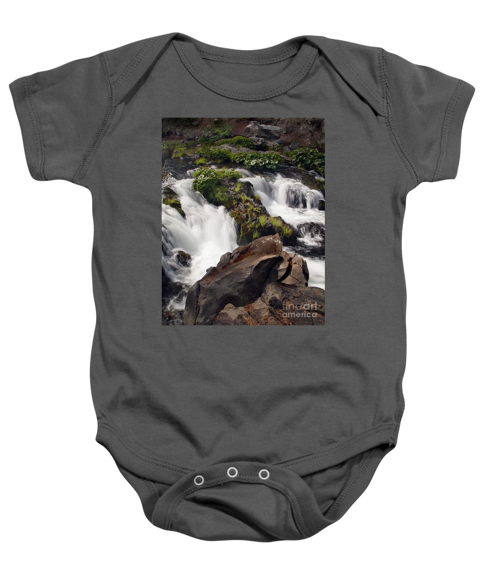 Creek Baby Onesie featuring the photograph Deer Creek 12 by Peter Piatt
