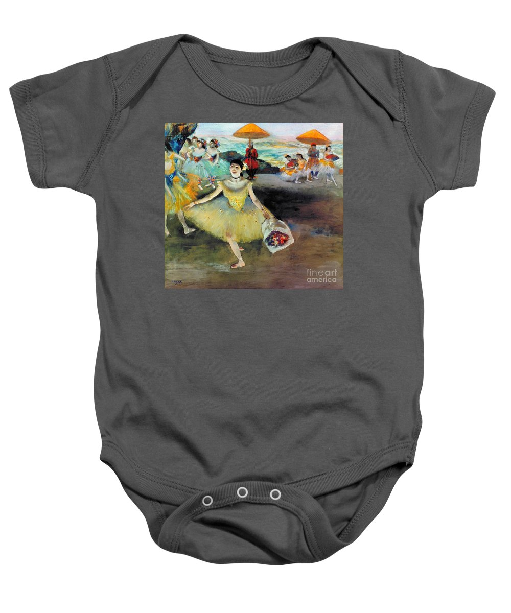 Aod Baby Onesie featuring the photograph Degas: Dancer, 1878 by Granger