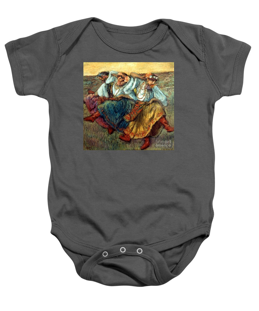 19th Century Baby Onesie featuring the photograph Degas: Dancing Girls, C1895 by Granger