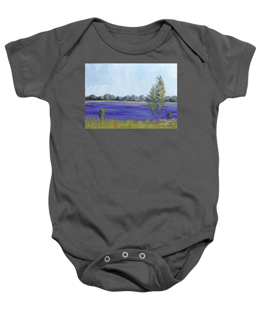 Delaware Baby Onesie featuring the painting Delaware River by Jackie Irwin