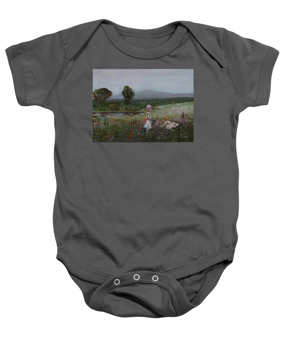 Impressionist Baby Onesie featuring the painting Delights Of Spring - Lmj by Ruth Kamenev
