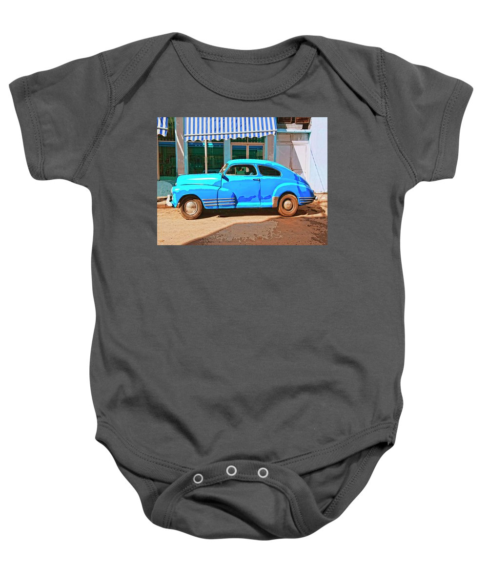 Deliverance Baby Onesie featuring the mixed media Deliverance by Dominic Piperata