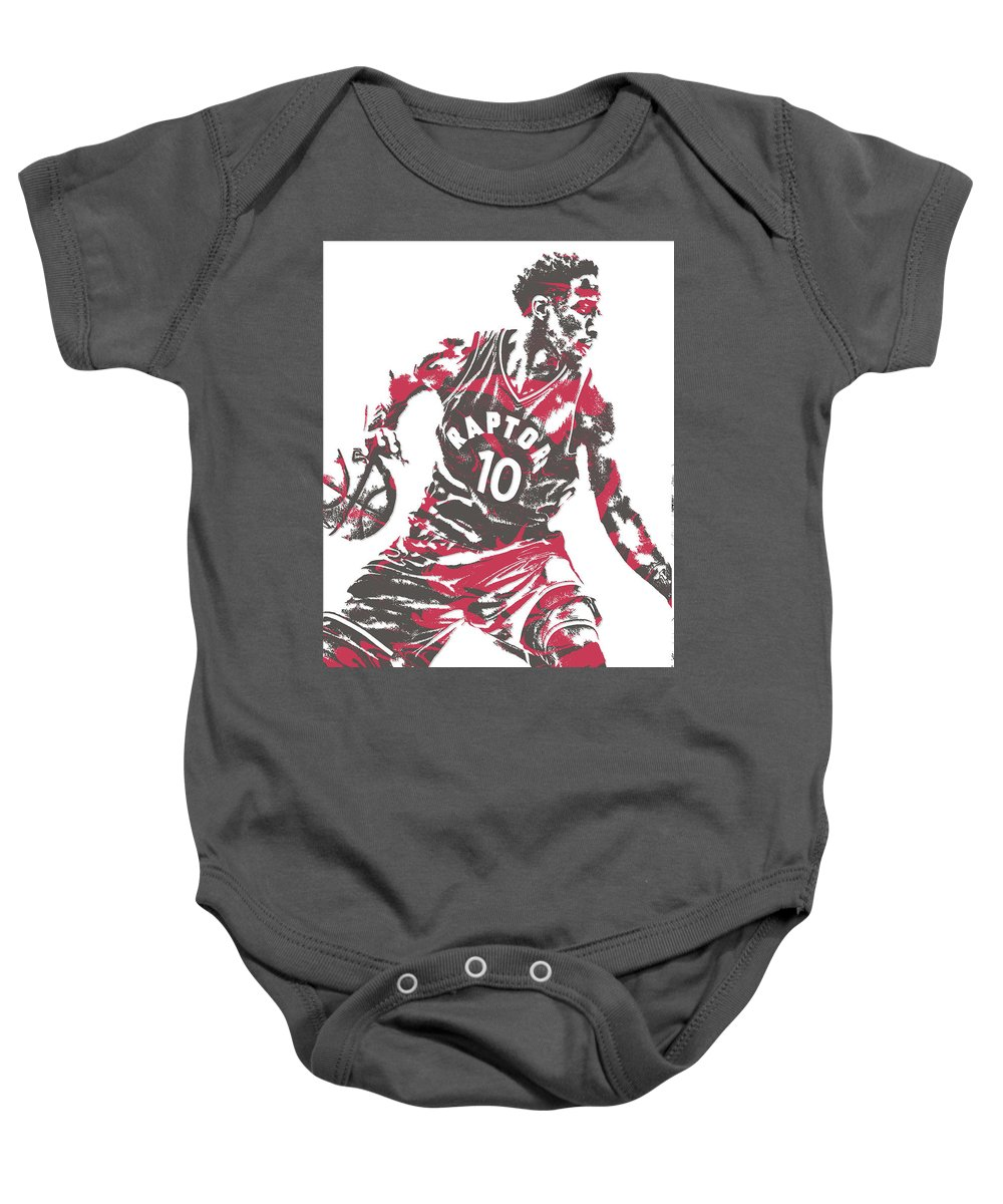 low priced fba21 2c003 Demar Derozan Toronto Raptors Pixel Art 6 Baby Onesie