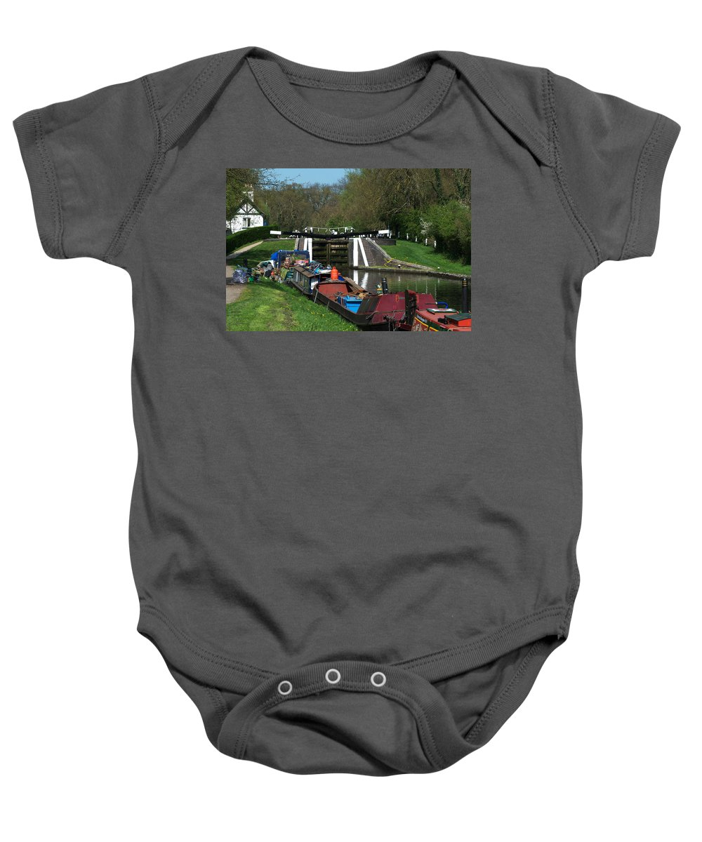 Denham Deep Lock Baby Onesie featuring the photograph Denham Deep Lock by Chris Day