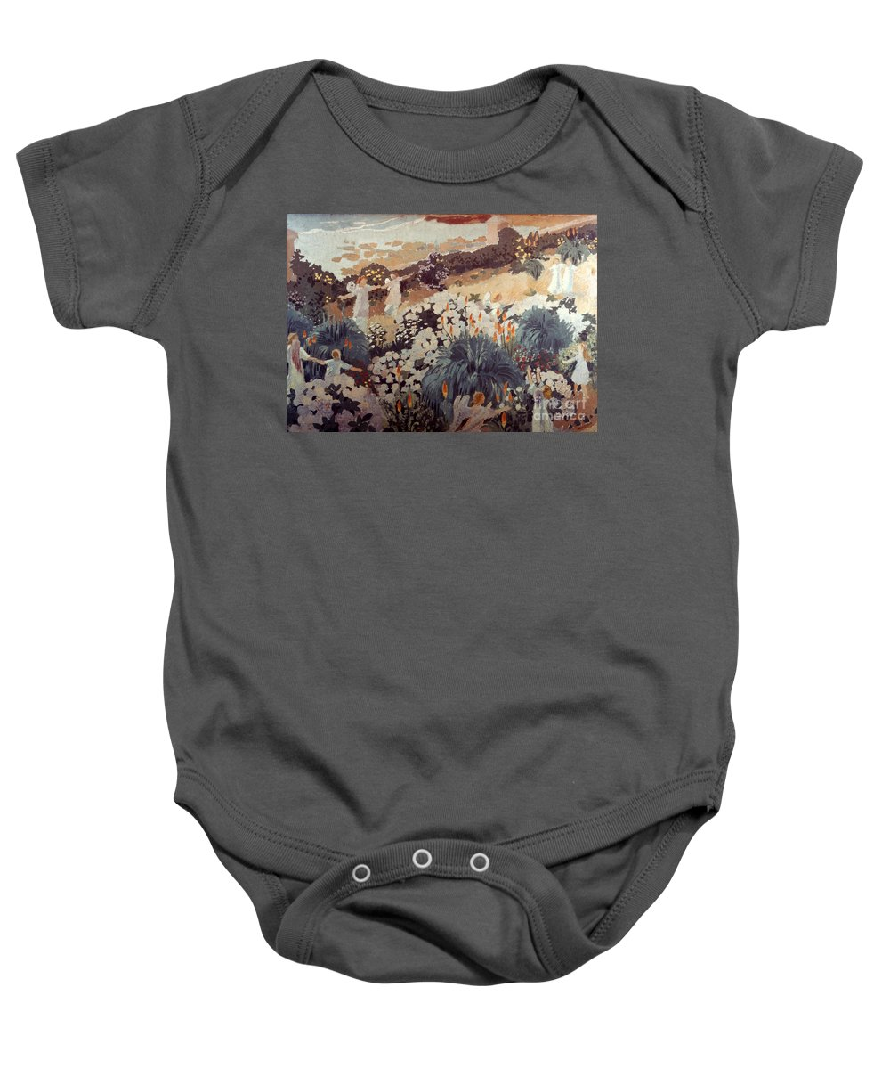1912 Baby Onesie featuring the photograph Denis: Paradise, 1912 by Granger