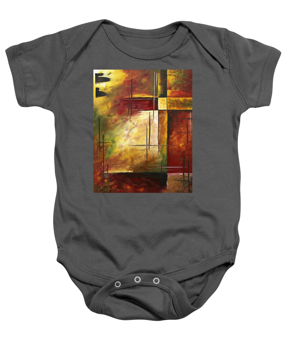 Abstract Baby Onesie featuring the painting Depth Of Emotion II By Madart by Megan Duncanson