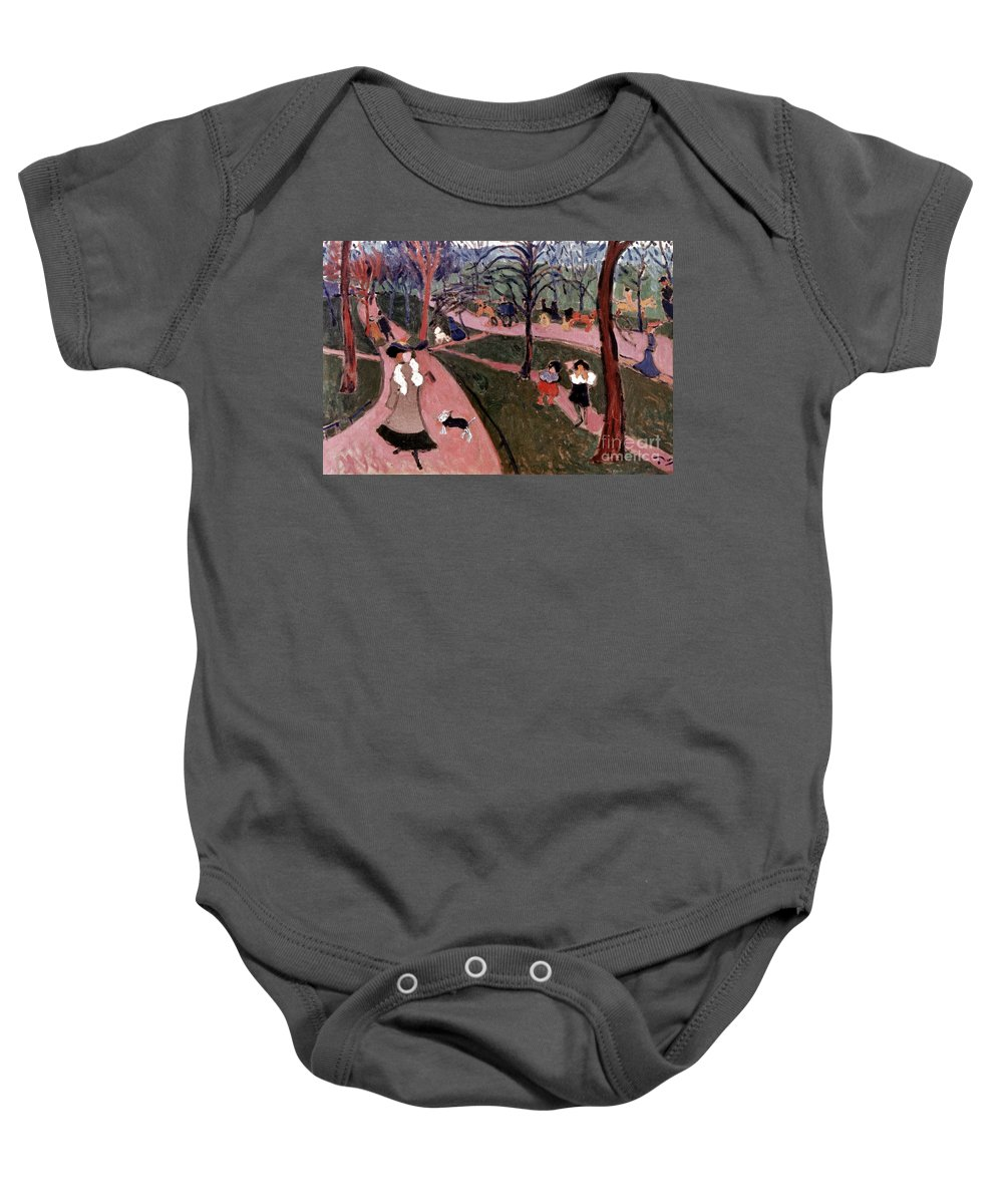 20th Century Baby Onesie featuring the photograph Derain: Hyde Park by Granger