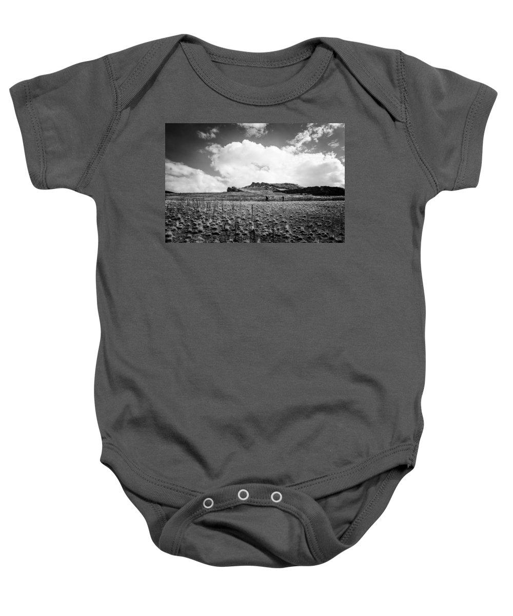 Hiking Baby Onesie featuring the photograph Desert Hike by Helix Games Photography