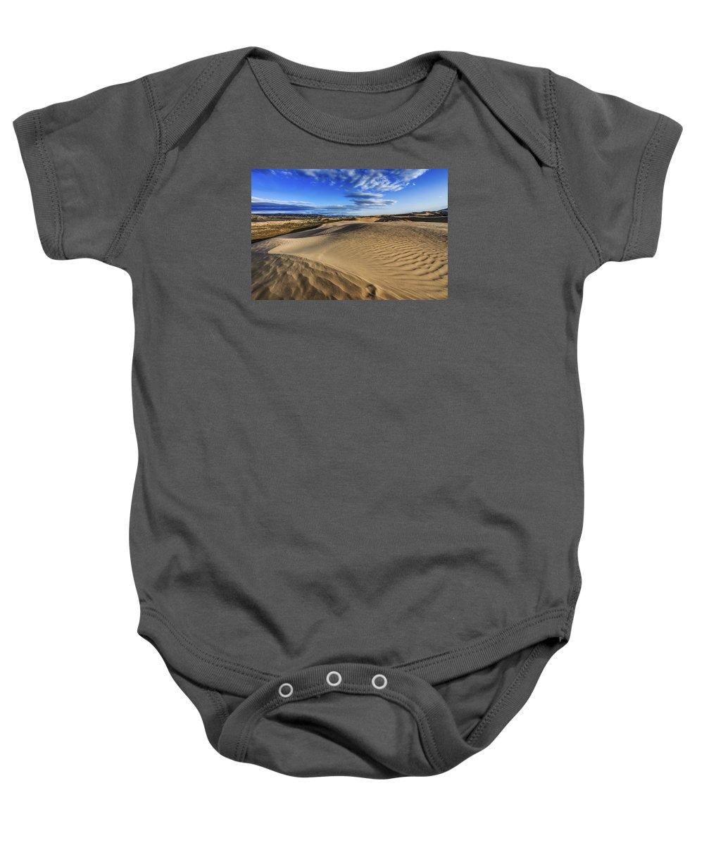 Desert Texture Baby Onesie featuring the photograph Desert Texture by Chad Dutson