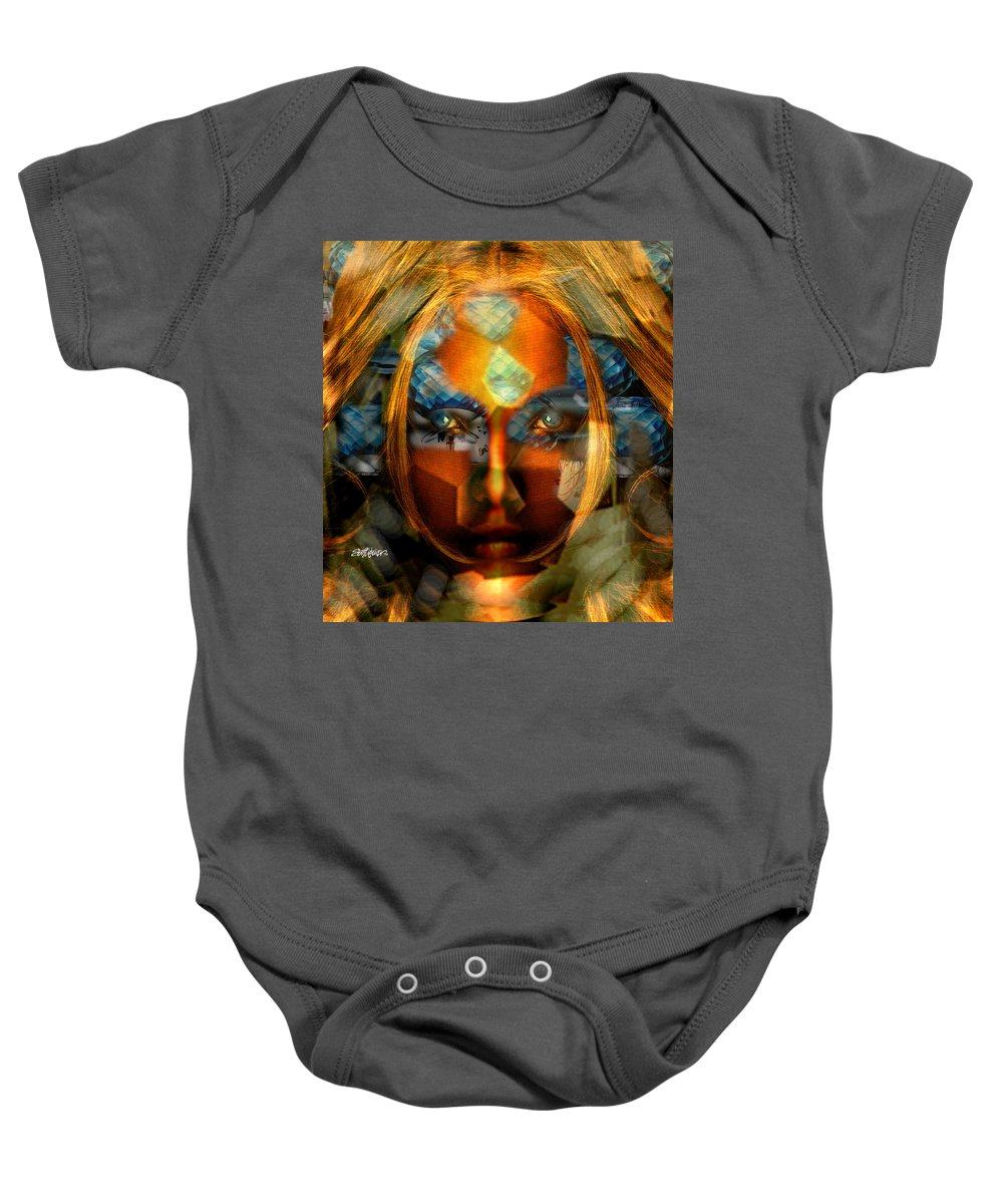 Lady Baby Onesie featuring the photograph Diamonella by Seth Weaver