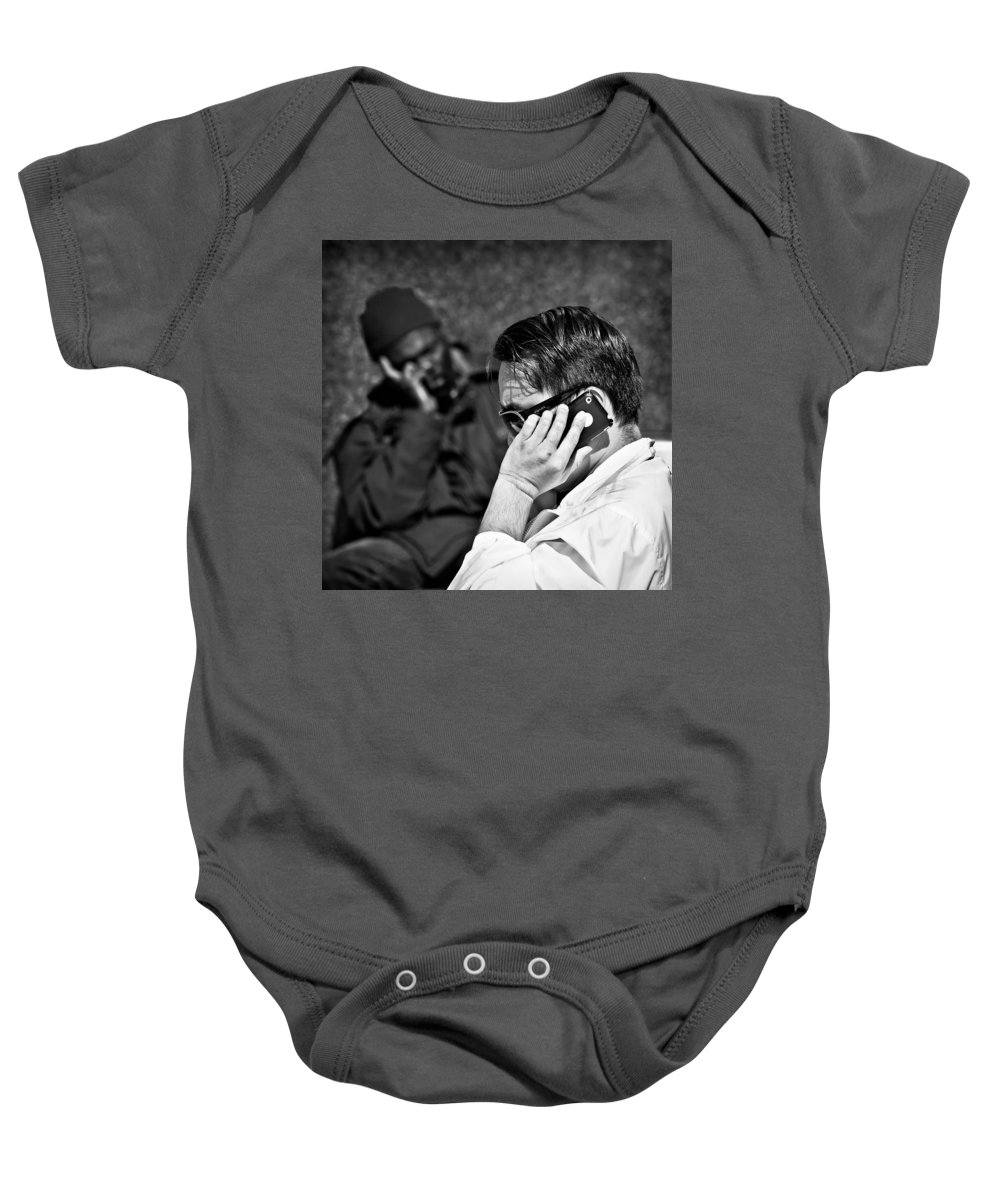 People Baby Onesie featuring the photograph Different Lives by Dave Bowman