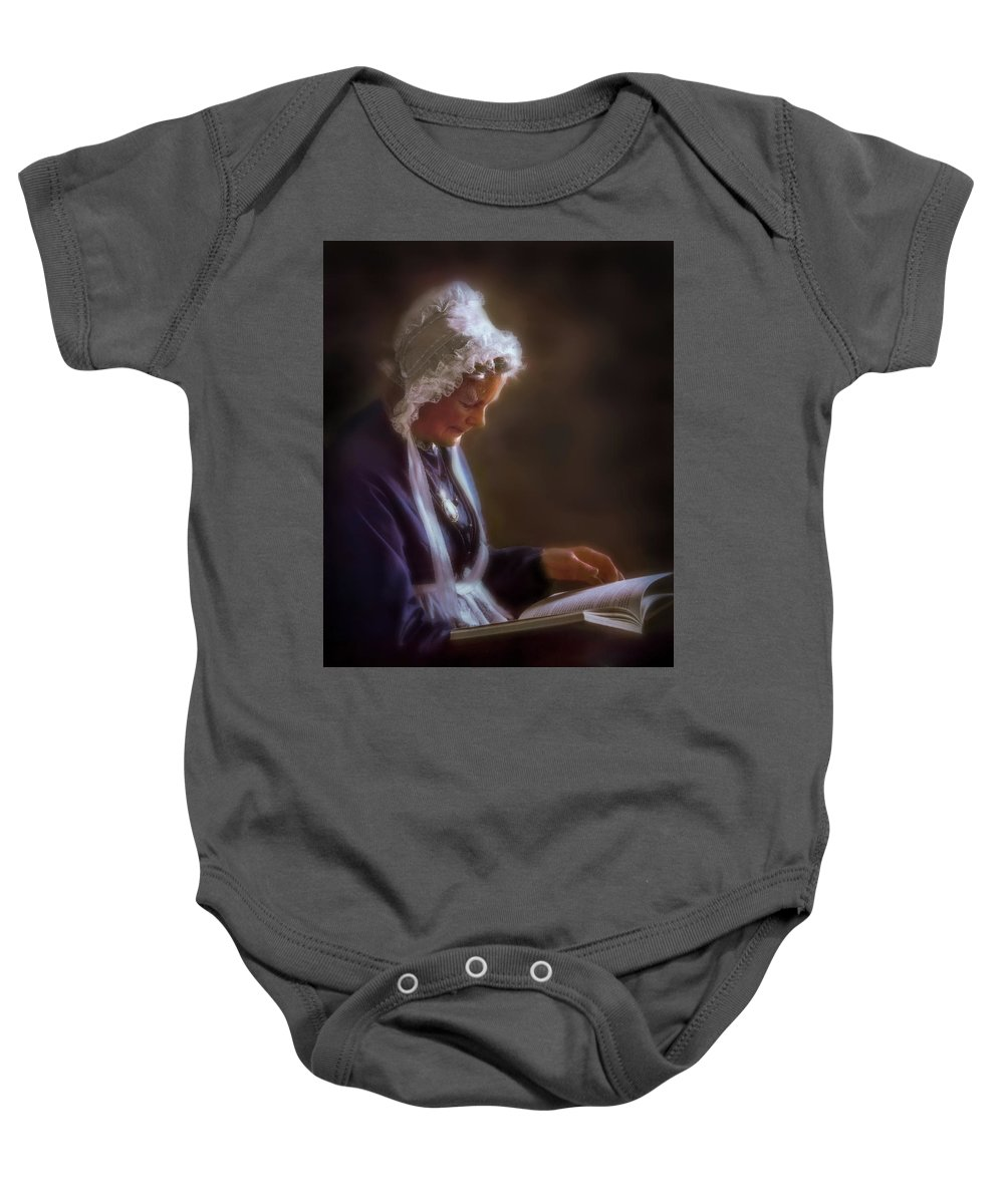 Antique Baby Onesie featuring the photograph Dignity Of Age by Peter Hayward Photographer