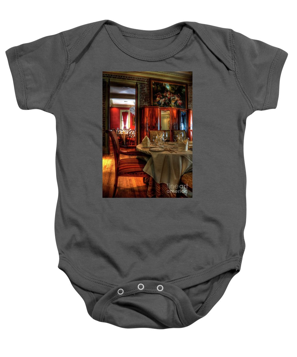 New Orleans Baby Onesie featuring the photograph Dining At Muriel's by Kathleen K Parker