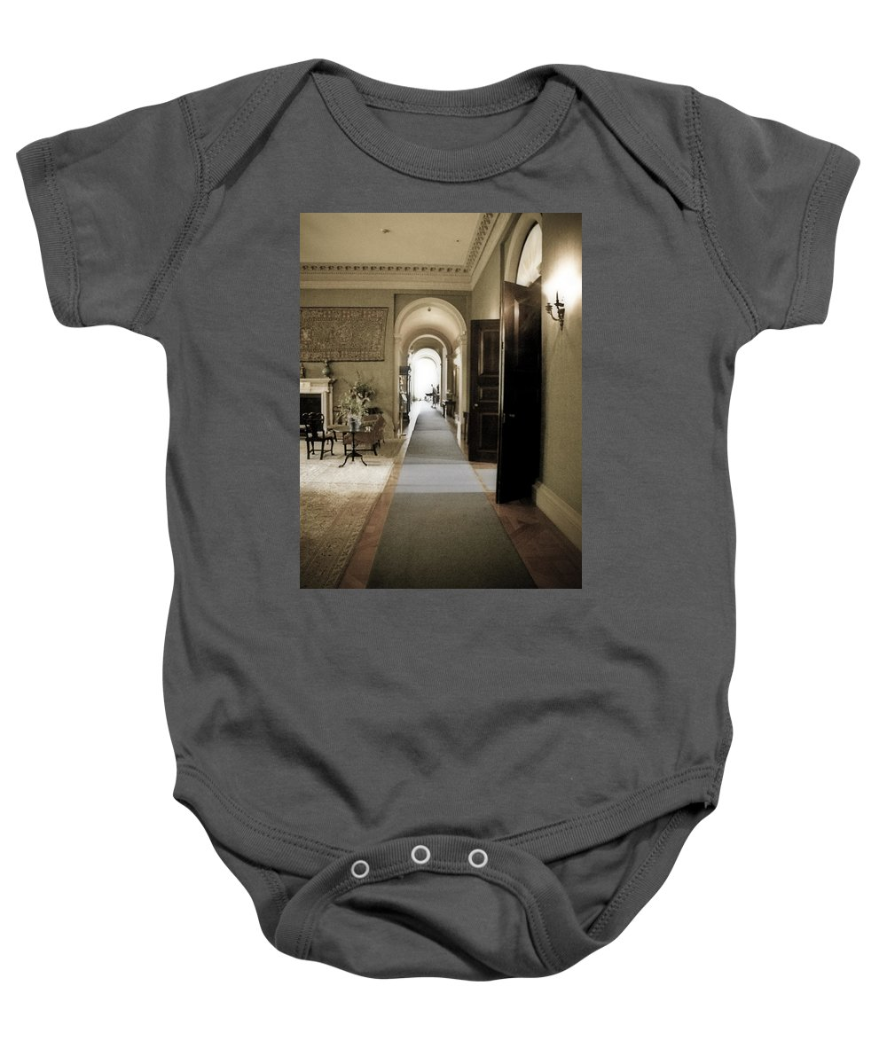 Mansions Baby Onesie featuring the photograph Dinner Is Serve4d by Karen W Meyer