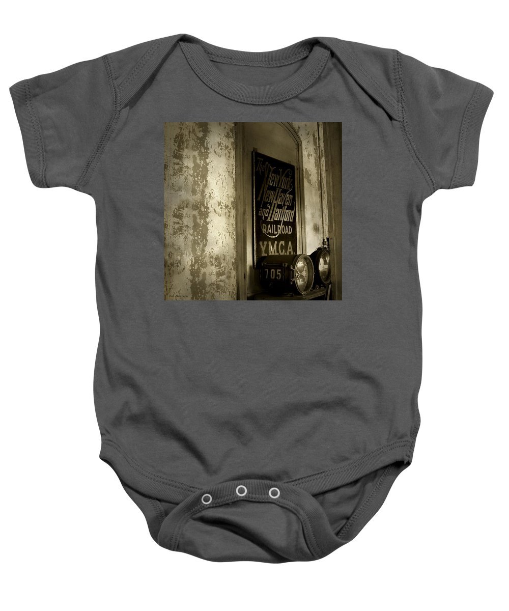 Connecticut Baby Onesie featuring the photograph Disappearing Railroad Blues by RC DeWinter