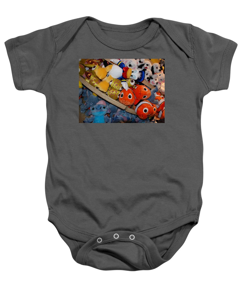 Colors Baby Onesie featuring the photograph Disney Animals by Rob Hans