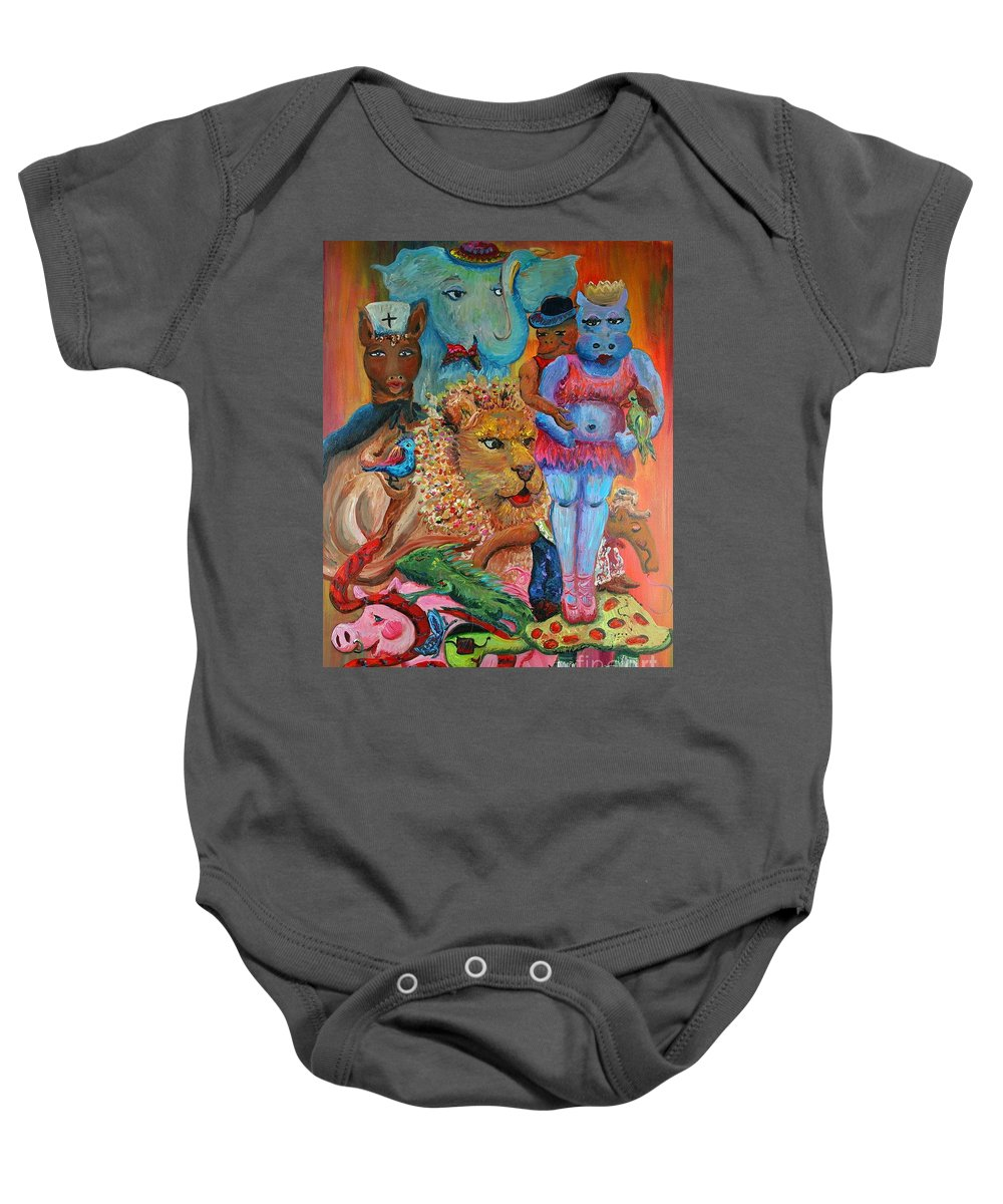 Diversity Baby Onesie featuring the painting Diversity by Nadine Rippelmeyer