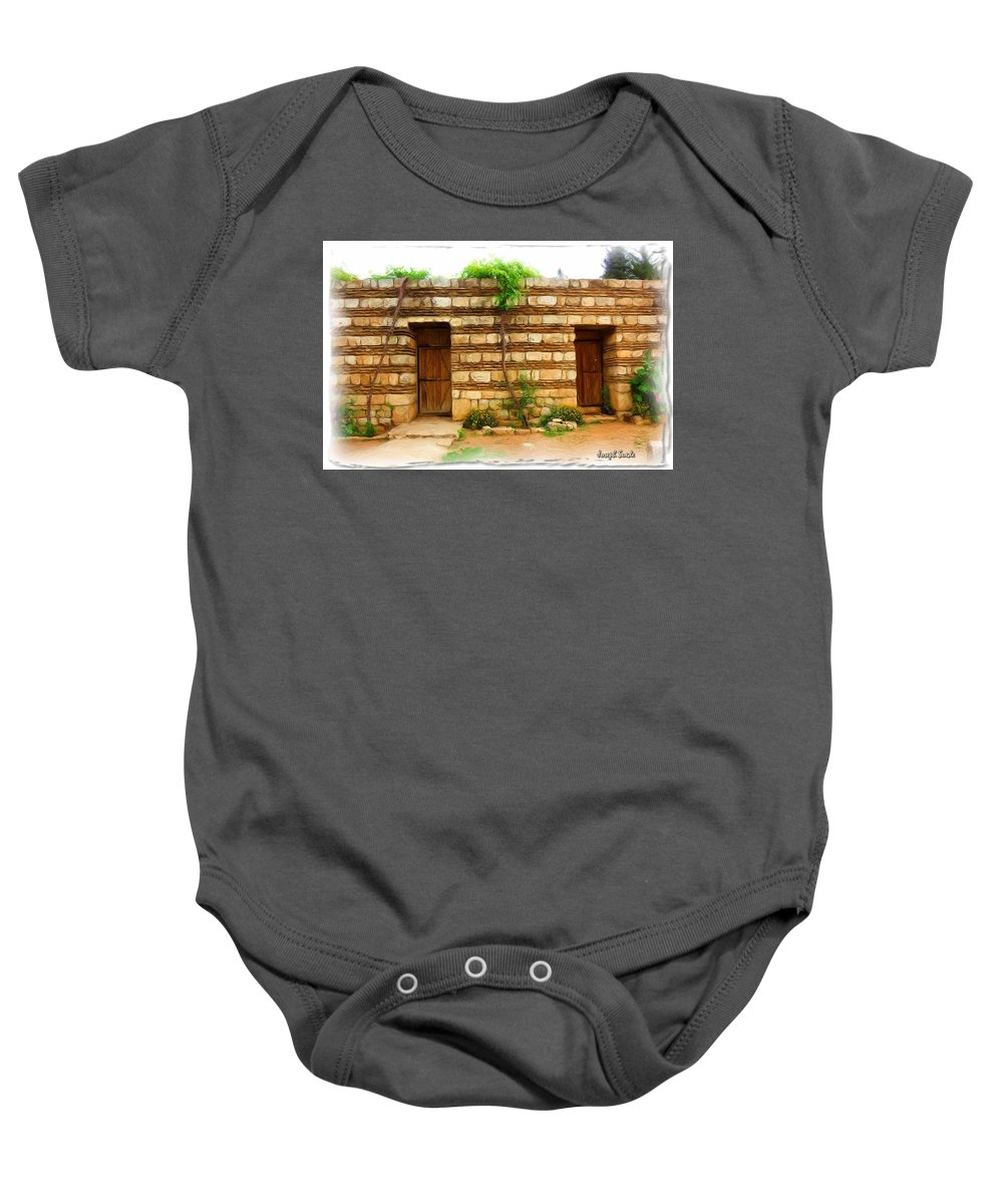 Old Hutt Baby Onesie featuring the photograph Do-00305 Old Hutt In Anjar by Digital Oil