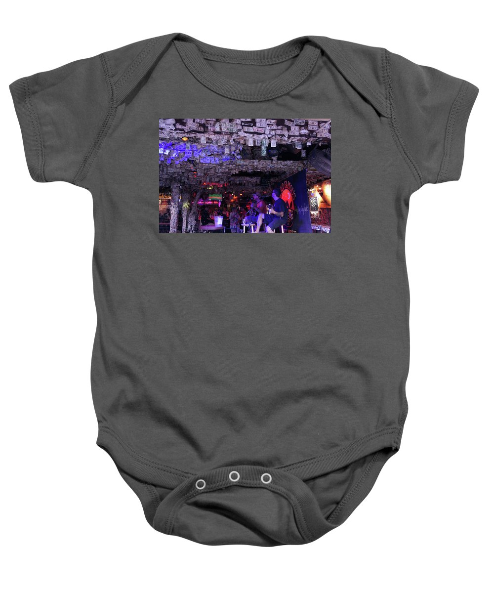 Key West Baby Onesie featuring the photograph Dollar Bill Bar In Key West, Florida by Art Spectrum