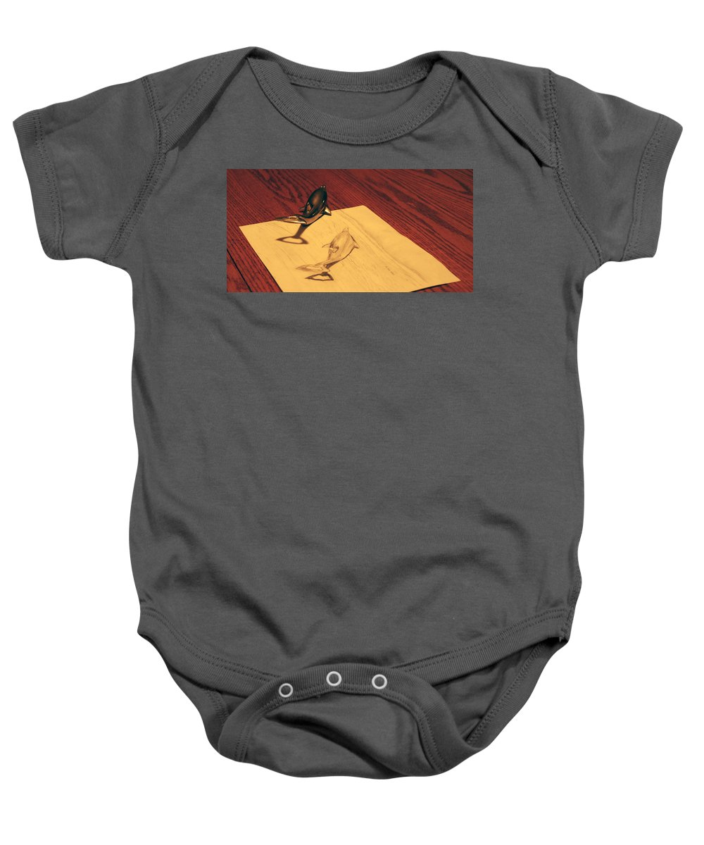 Dolphin Baby Onesie featuring the photograph Dolphins by T Brian Jones