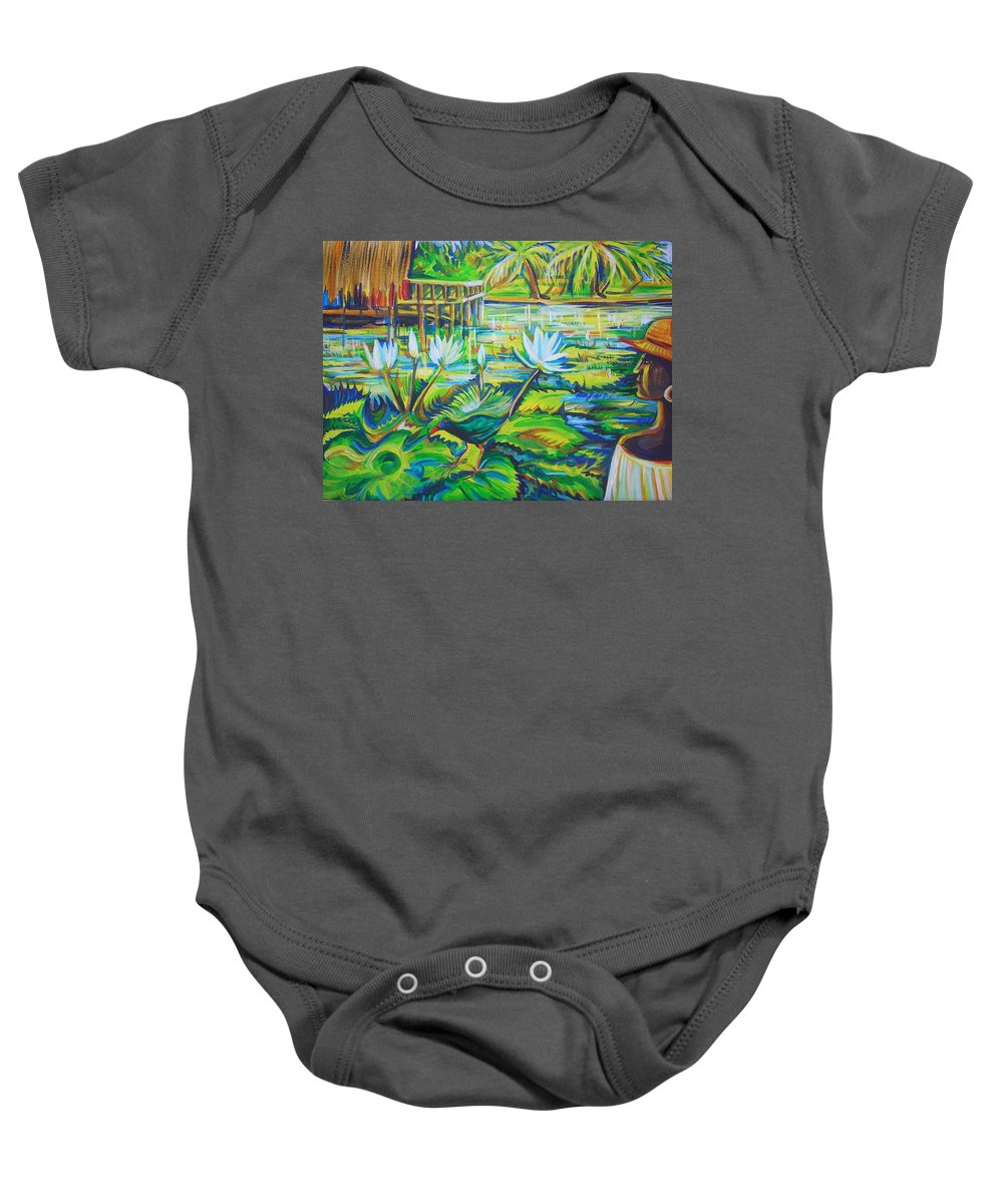 Tropics Baby Onesie featuring the painting Dominicana by Anna Duyunova