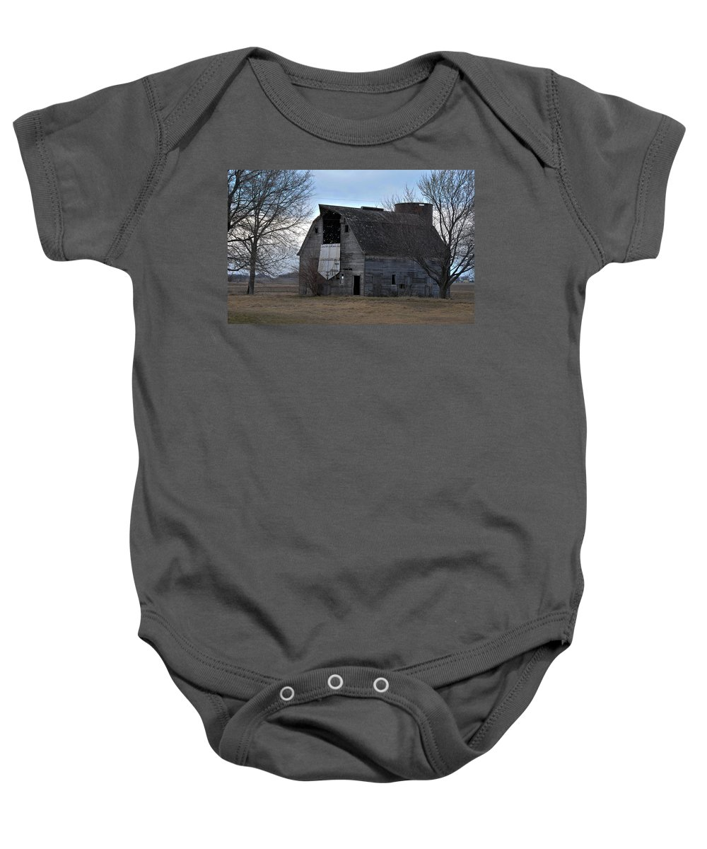 Barn Baby Onesie featuring the photograph Door Open by David Arment